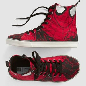 Gap kids marvel spiderman high top senakers